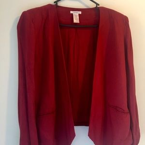 ModCloth (Esley) Red Open Blazer, Large